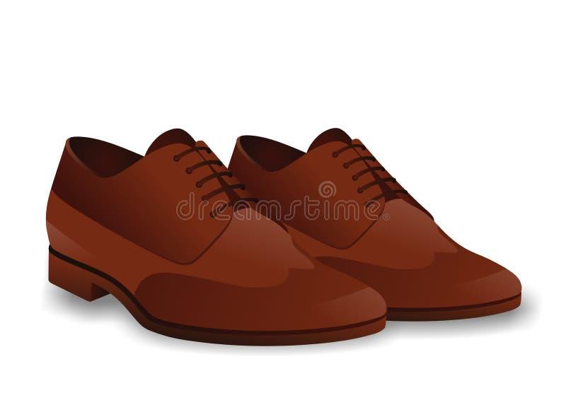 男性鞋子 皇族释放例证