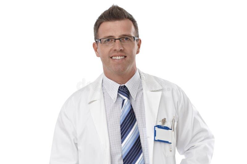男性医生特写镜头画象  免版税图库摄影