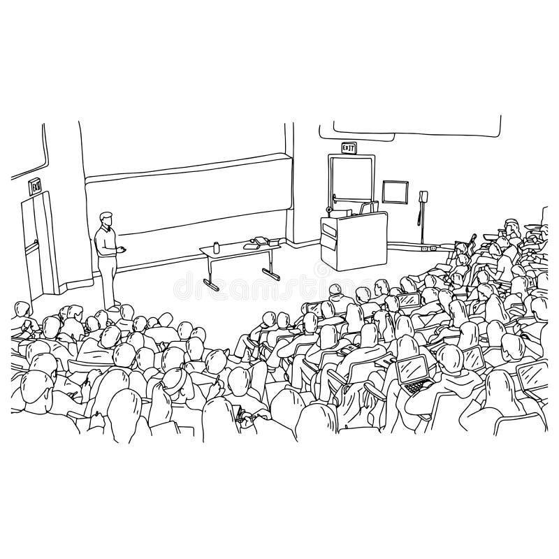 男老师教的学生在倾斜屋子传染媒介例证剪影乱画里手拉与在白色隔绝的黑线 皇族释放例证