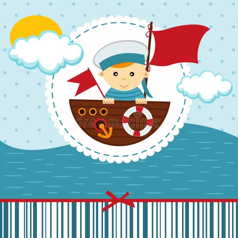 男婴水手 向量例证