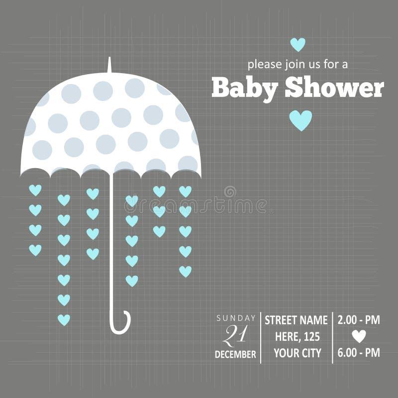男婴阵雨卡片 向量例证