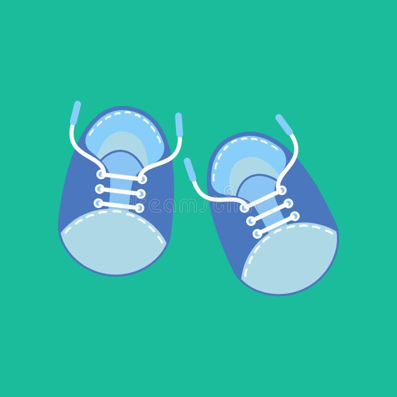 男婴鞋子 库存例证