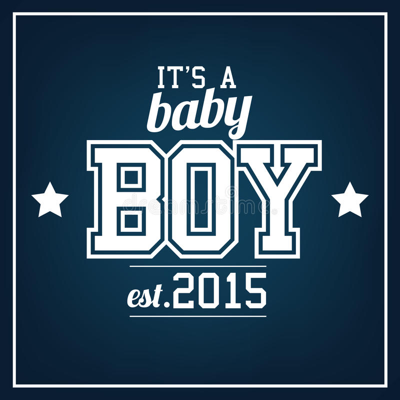 男婴2015年 皇族释放例证