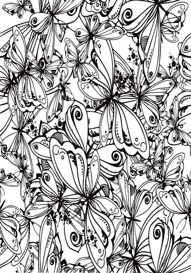 画为凝思的蝴蝶背景  图库摄影