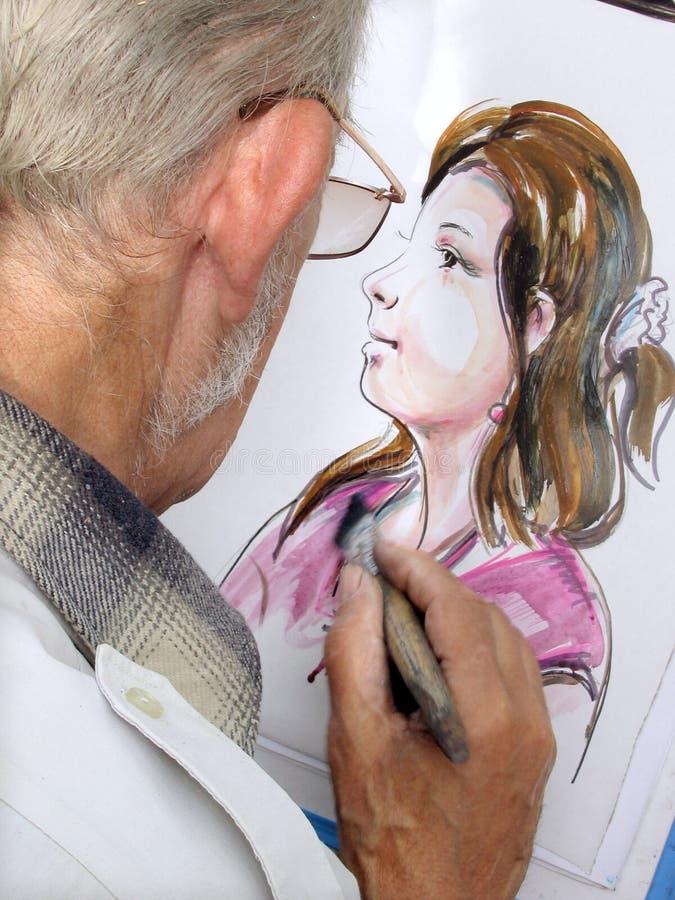 画家在工作 免版税库存图片