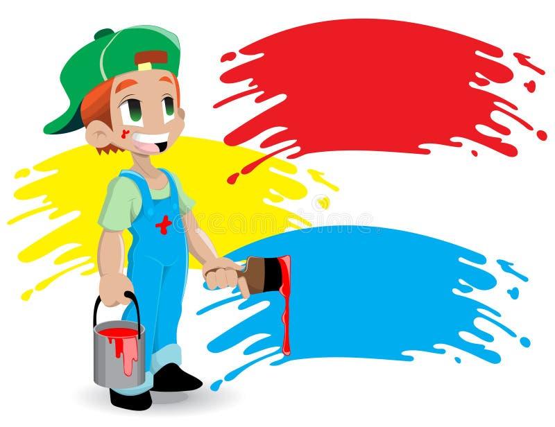 画家年轻人 向量例证