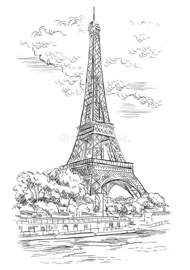 画巴黎1的传染媒介手 库存例证
