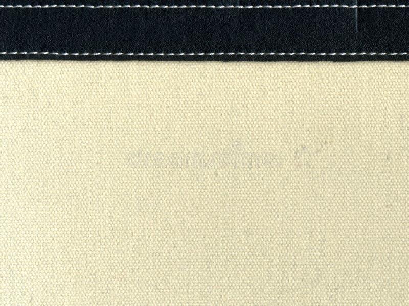 画布皮革缝的主街上 库存图片