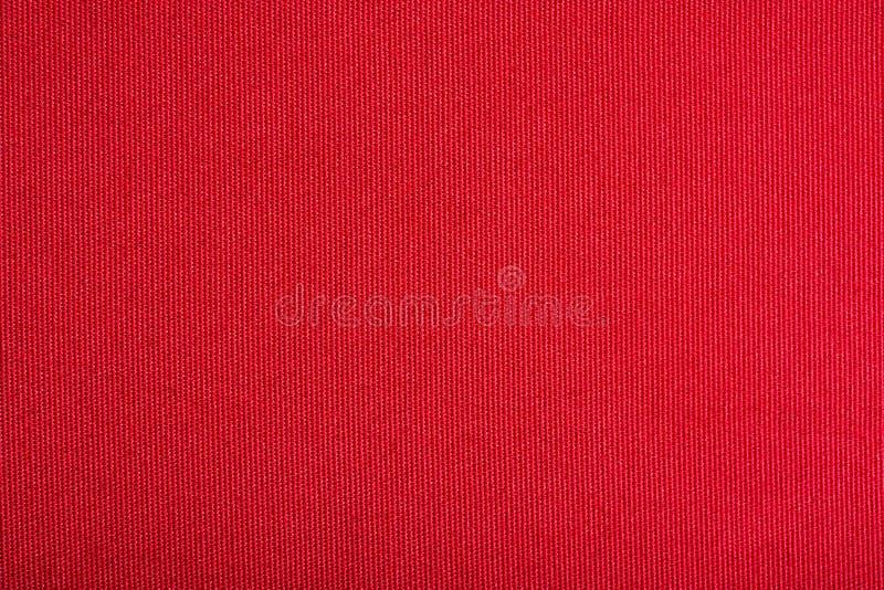 画布红色纹理 免版税库存照片