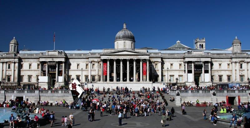 画廊伦敦国家s方形trafalgar 免版税库存照片