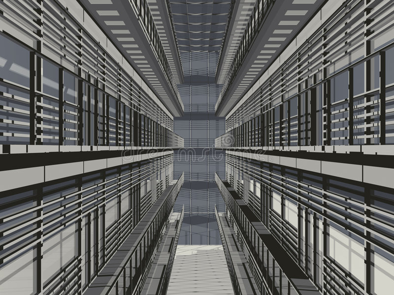 画廊栏杆 免版税图库摄影