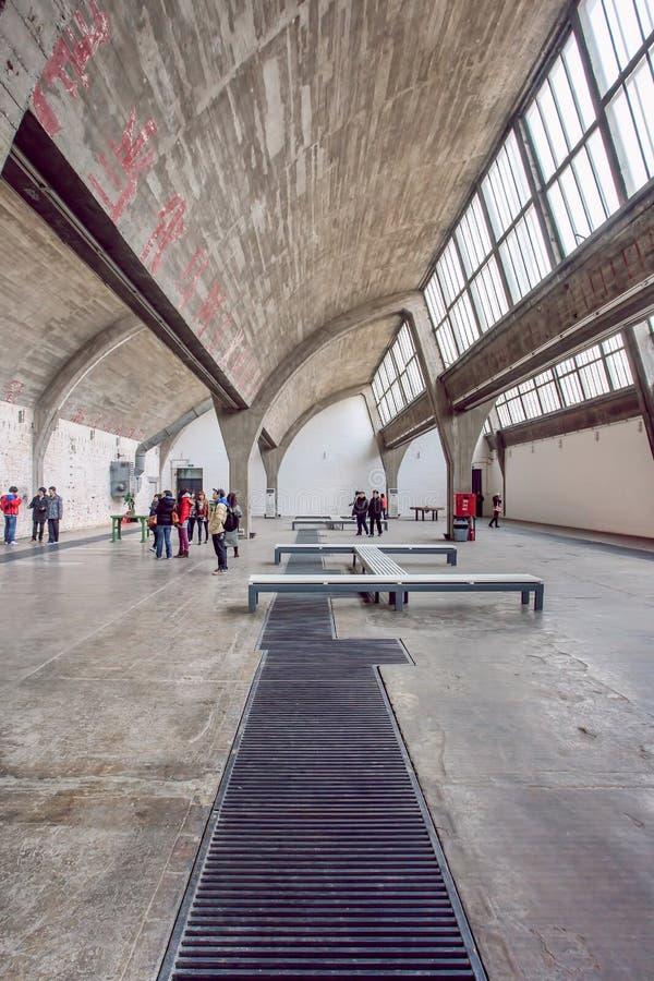 画廊空间798艺术区域, 50岁的工厂厂房区域,北京,中国 免版税图库摄影
