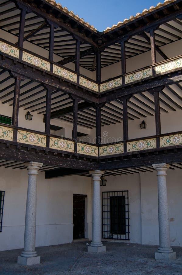 画廊西班牙方形tembleque市长 免版税库存图片