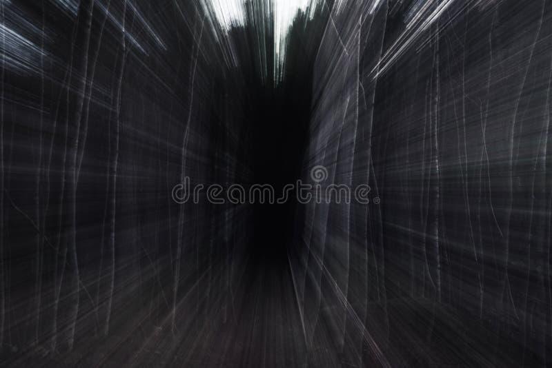 画往恐怖在森林里 库存图片