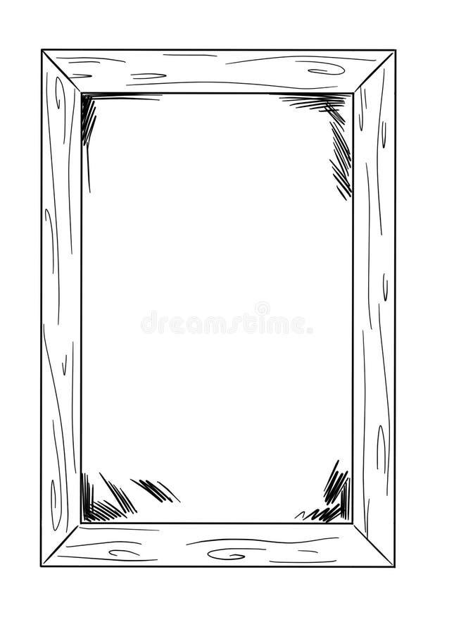 画框架whith空格里面作为模板 库存例证