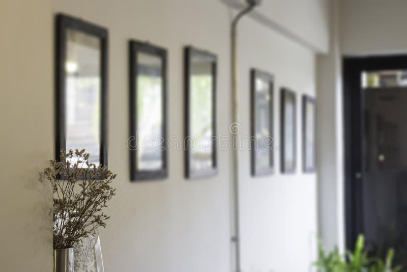 画框迷离墙壁  免版税库存图片