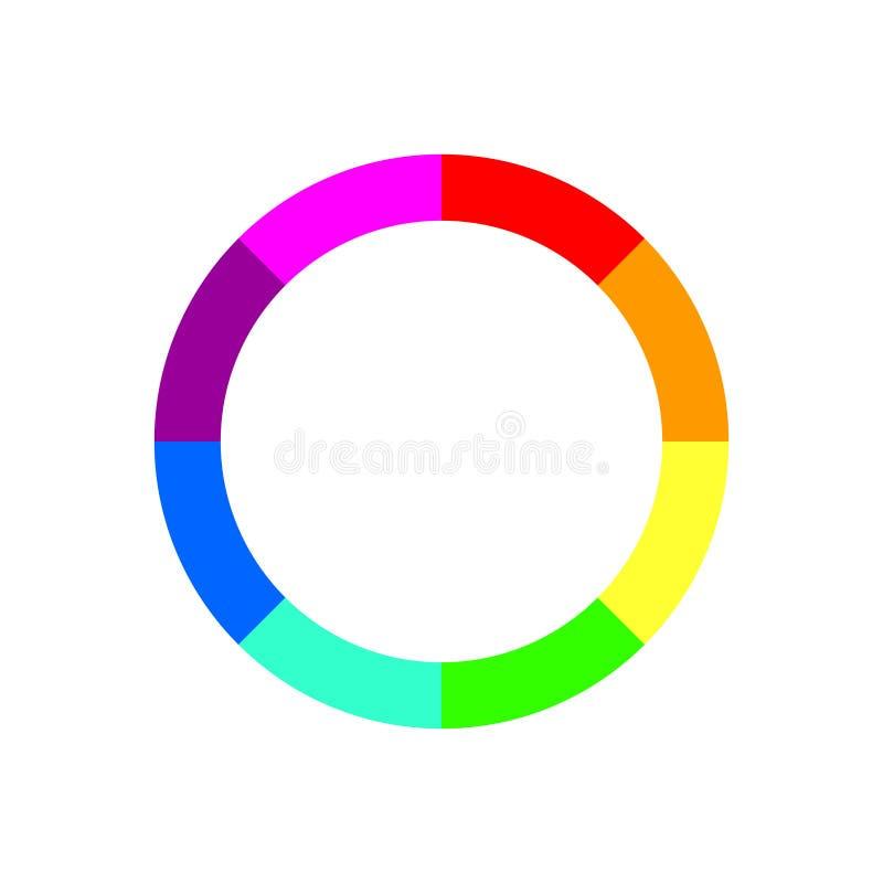 画的三原色圆形图或色环捡取器平的传染媒介象 ?? 向量例证
