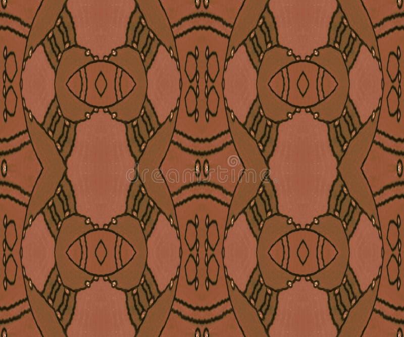 画的无缝的装饰品在棕色树荫下 向量例证