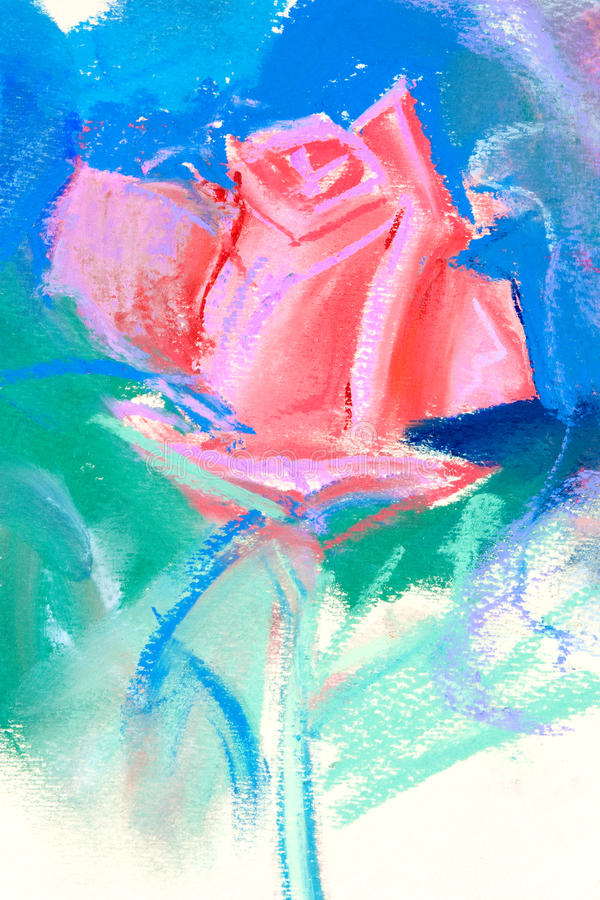 画的柔和的淡色彩 向量例证