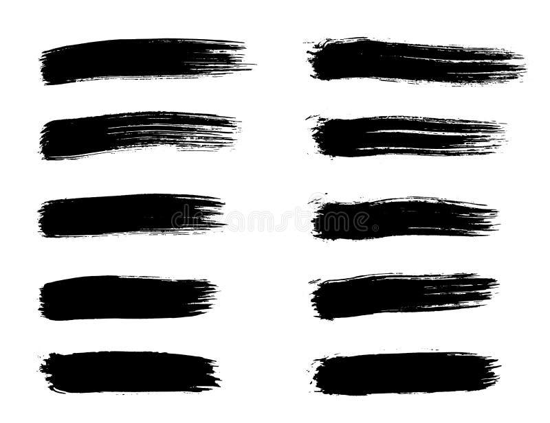 画笔冲程 库存例证