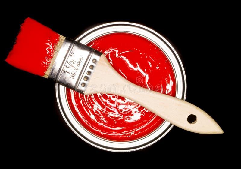 画笔可能绘红色 库存图片