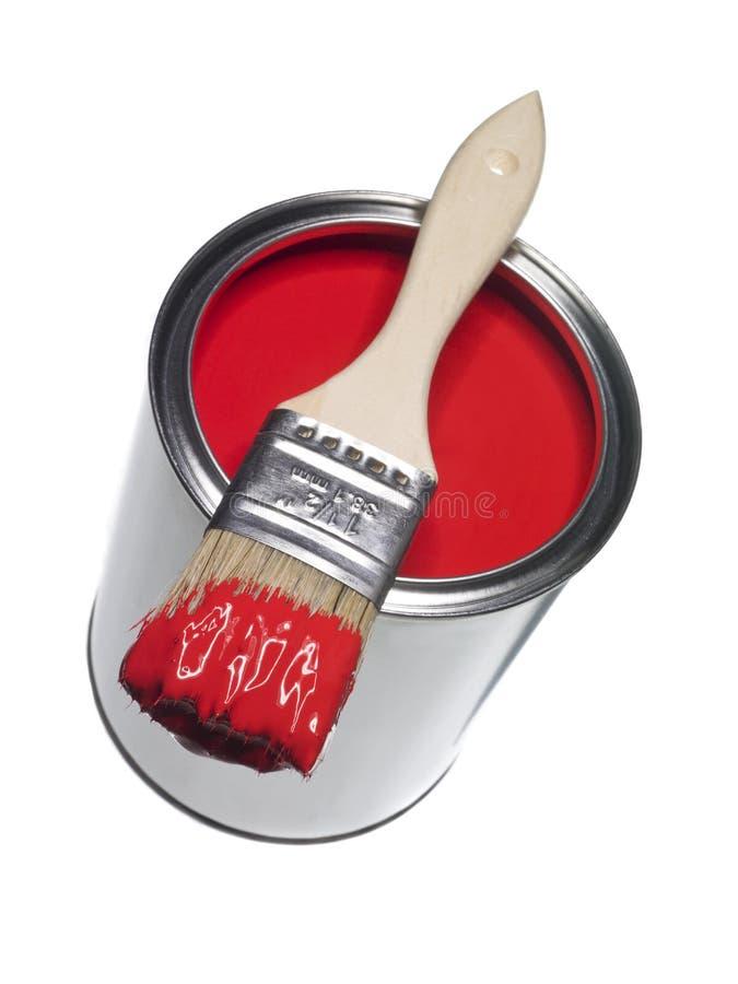 画笔可能绘红色 免版税库存照片