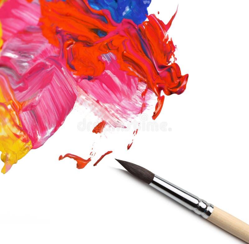 画笔和摘要被绘的背景 图库摄影