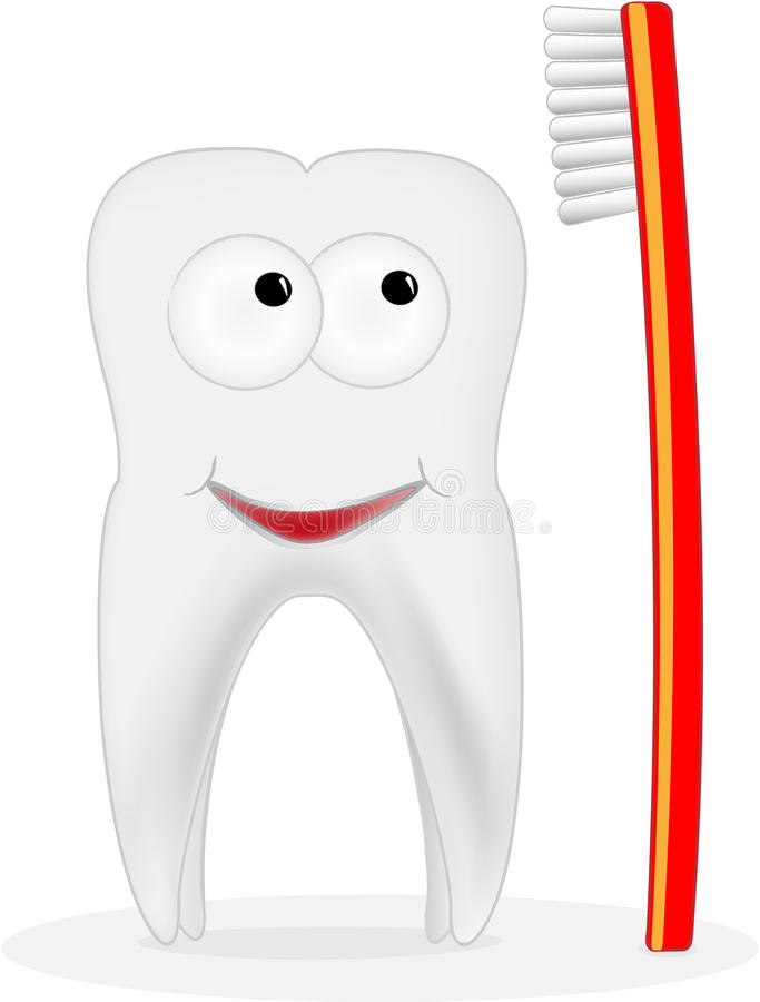 画笔微笑的牙 向量例证