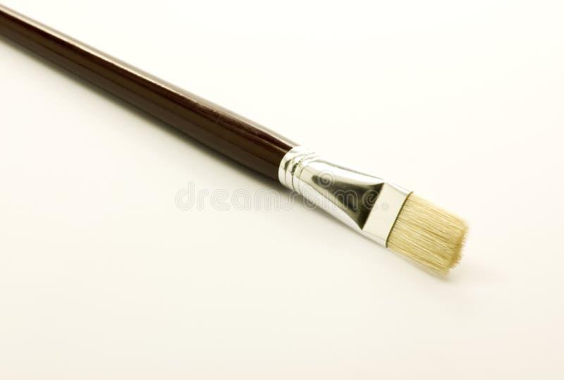 画笔查出新的绘画白色 免版税图库摄影