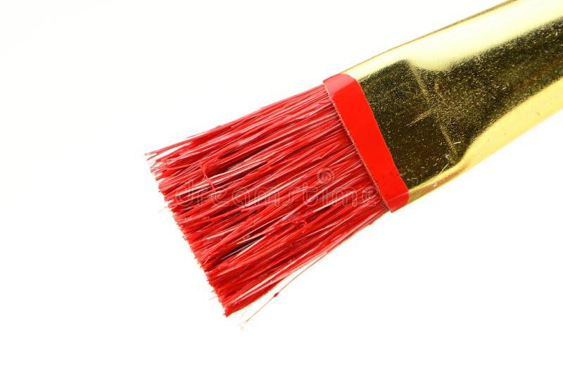 画笔油漆红色 免版税库存照片