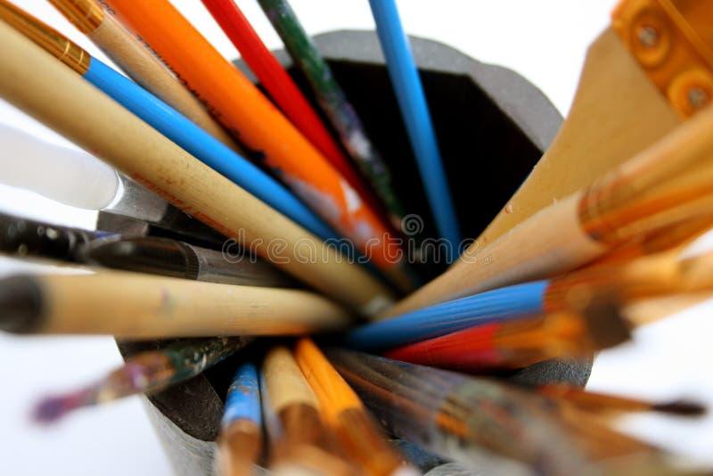 画笔油漆螺旋 库存照片
