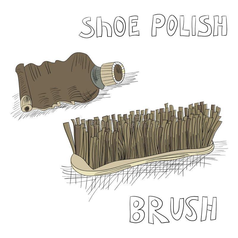 画笔波兰鞋子 向量例证