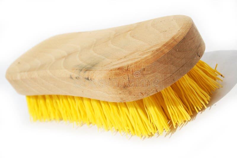 画笔洗刷木 免版税库存图片