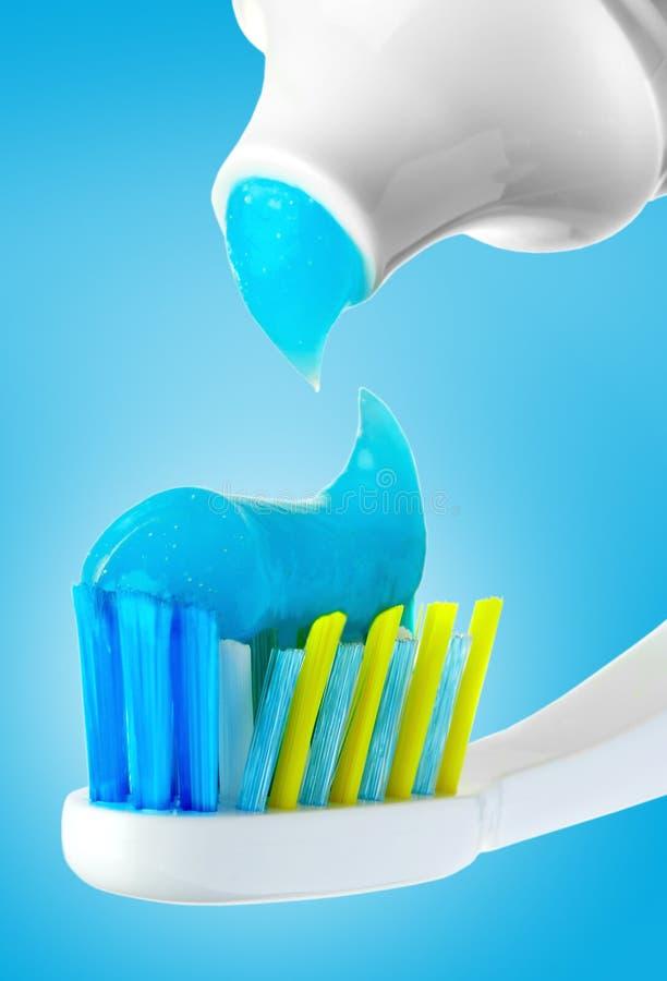 画笔牙齿管 免版税库存图片