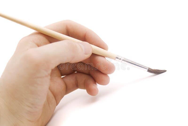 画笔现有量人 免版税库存图片