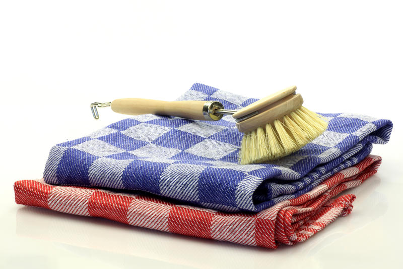 画笔盘洗涤物 免版税库存照片