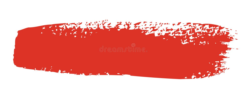 画笔红色冲程 库存照片