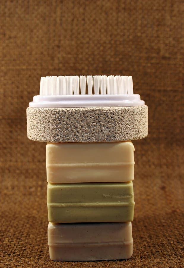 画笔肥皂 免版税库存照片