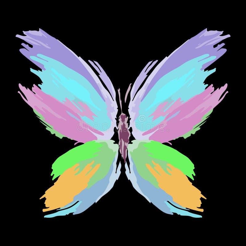 画笔蝴蝶种族分界线飞溅 向量 库存图片
