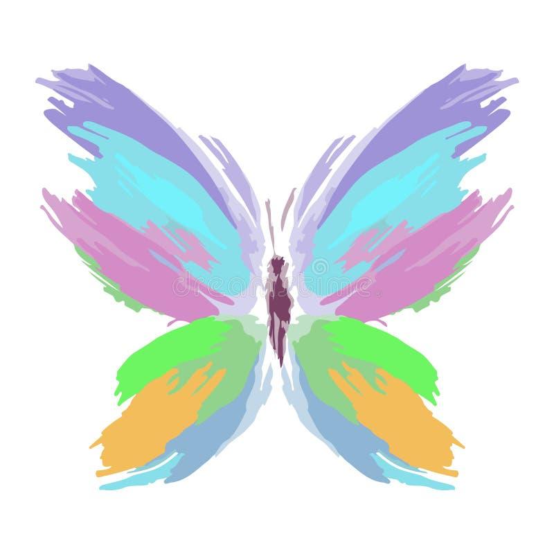 画笔蝴蝶种族分界线飞溅 向量 免版税库存照片