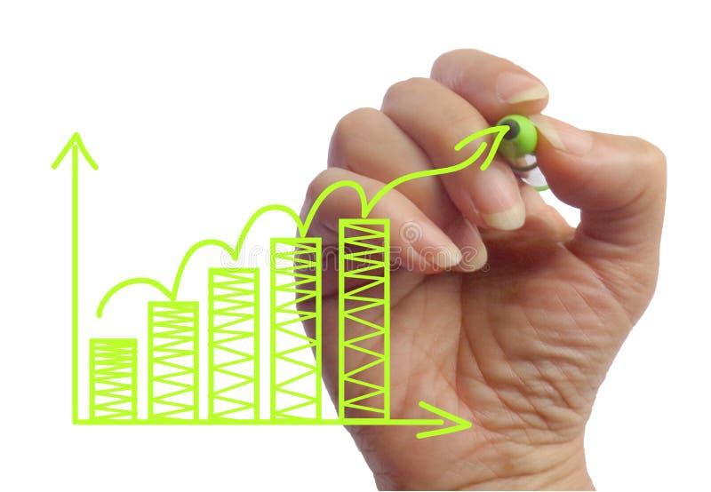 画统计企业标志照片的手 向量例证