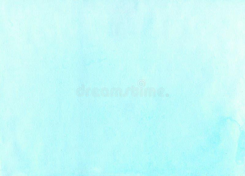 画蓝色背景的手 库存例证