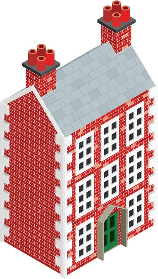 画装载房子等量固体的玩偶 皇族释放例证