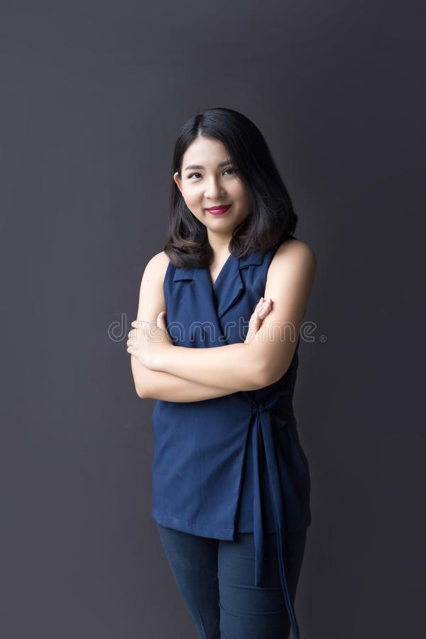 画象企业亚洲人妇女 库存照片