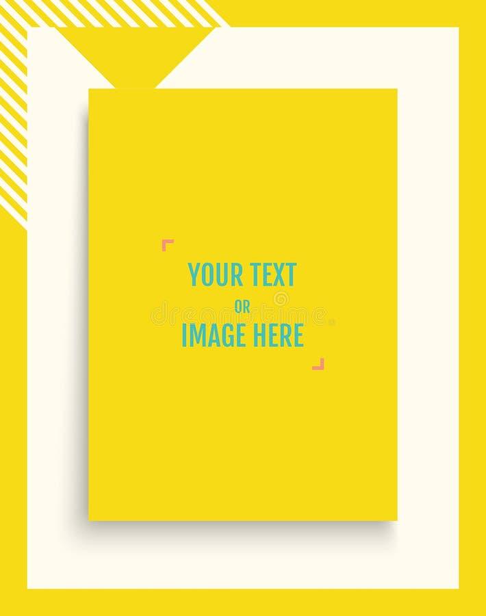 画象导向杂志或编目的大模型 白纸页 做广告和增进消息的元素 3d 向量例证