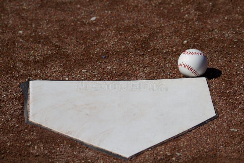 界内球白色棒球 库存照片