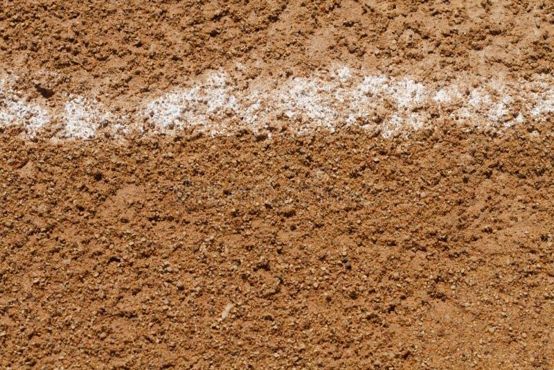 界外球在棒球场的粉笔线 库存照片