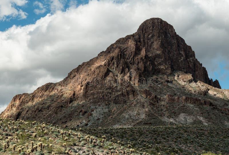 界限锥体在亚利桑那 库存图片