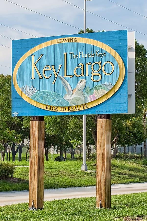 留下佛罗里达群岛标志 免版税图库摄影