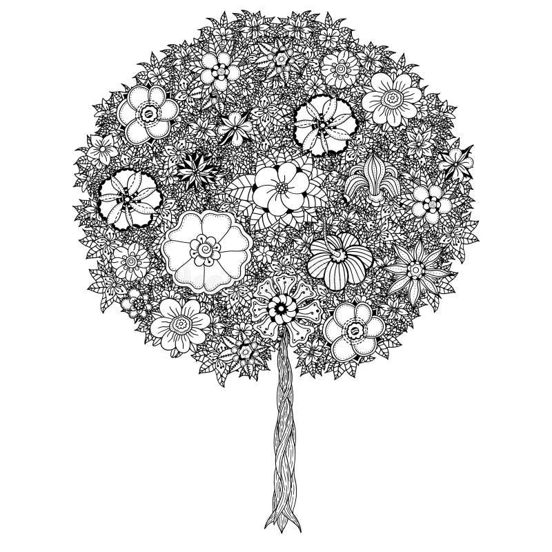 留下结构树 库存例证